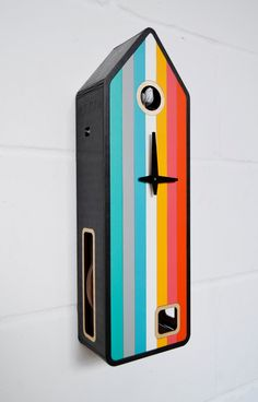 ArcoIris Modern Cuckoo Clock inspired by Black by pedromealha
