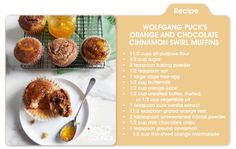 Indulge in a sweet sensation this Easter, Chef Wolfgang Puck's Orange Chocolate CInnamon muffins, only on mblog.macys.com
