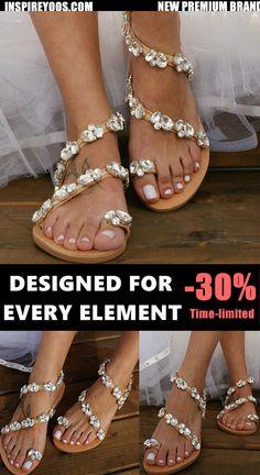 Women Large Size Big Rhinestones Wedding Sandals Wedding Toes, Boho Wedding Dress, Wedding Dresses, Rhinestone Sandals, Premium Brands, Gifts For Mom, Casual, Elegant, Summer Time