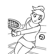 Free Printable Tennis Coloring Pages