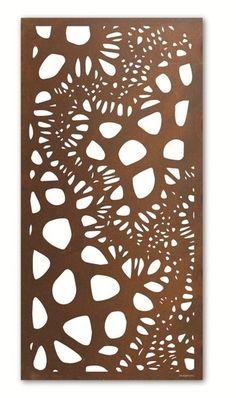 Outdoor Iron Wall Art home :: outdoor wall sculpture :: laser cut steel wall art :: mild