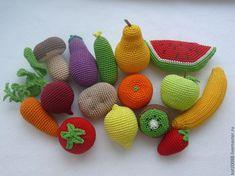 Вязаные фрукты-овощи