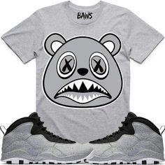 ea01aa21577d7b SHADOW BAWS Sneaker Tees Shirts - Jordan 10 Smoke Grey
