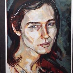Ah, delicious Keany. #portrait a paint sketch in mixed media