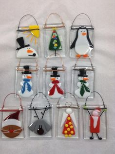 "Bonnie Doone - Glass Christmas ornaments (2X3"") - Click Image to Close"