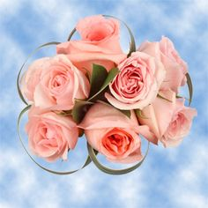 Pink Wedding Flower Arrangements Roses with Fillers | Global Rose