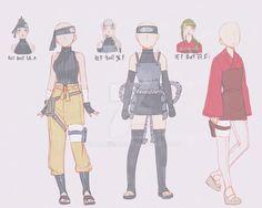 Naruto Oc, Naruto Girls, Naruto Shippuden Anime, Anime Naruto, Boruto, Anime Inspired Outfits, Anime Outfits, Ninja Outfit, Drawing Anime Clothes
