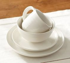 Joshua 16-Piece Dinnerware Set - Ivory White #potterybarn