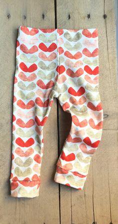 linen hearts Little Acorns, Knit Leggings, Cotton Spandex, Organic Cotton, Hearts, Lady, Swimwear, Fabric, Closet