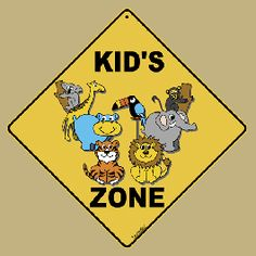 Kidu0027s Zone Road Sign From Sarah J Home Decor. $19.95