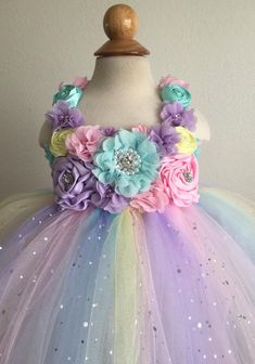 Beautiful unicorn theme tutu dress with matching headband in Baby Tutu Dresses, Pink Flower Girl Dresses, Wedding Dresses For Girls, Dresses Kids Girl, Baby Dress, Kids Outfits, Baby Girl Birthday Dress, First Birthday Tutu, Birthday Dresses