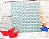 Hellblaues Fotoalbum, Einschulung, Fotoalbum mit Papierbooten, maritimes Fotobuch, Hochzeitsfotoalbum, personalisierbar,Hellblau,Papierbo0te