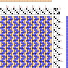 Back And Forth Twill - possibility has weaving project 16 part 2 Weaving Designs, Weaving Projects, Weaving Patterns, Mosaic Patterns, Stitch Patterns, Knitting Patterns, Paper Weaving, Weaving Textiles, Inkle Loom