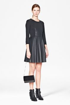 Solar Pleated Dress - Dresses - French Connection