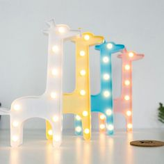 Cheap LED Night Lights, Buy Directly from China Suppliers:Lovely Animal LED Light Night Light Kids Gift Toy For Children Bedroom Party Home Decoration Lamp Indoor Lighting Giraffe Bedroom, Giraffe Lamp, Diy Luz Led, Bedroom For Girls Kids, Deco Led, Interior Led Lights, Interior Sliding Barn Doors, 3d Light, Arquitetura