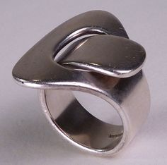 Excellent Vintage Modernist Sterling Interlaced Ring Hans Hansen Denmark | eBay