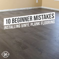 Before you install vinyl plank flooring make sure you watch this video! Putting new floors in is a great DIY project you can do yourself. But your flooring project will go a lot smoother if you avoid these 10 Beginner Mistakes Installing Vinyl Plank Floo Diy Flooring, Concrete Diy, Diy Home Repair, House Flooring, Flooring Projects, Diy Staircase, Installing Vinyl Plank Flooring, Home Diy, Vinyl Flooring