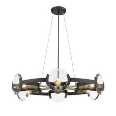 Buy the Golden Lighting BLK-AB Black Direct. Shop for the Golden Lighting BLK-AB Black Amari 6 Light Wide Ring Chandelier with Aged Brass Accents and save. Ring Chandelier, Wagon Wheel Chandelier, 5 Light Chandelier, Chandelier Shades, Pendant Lighting, Chandeliers, Pendant Lamps, Modern Chandelier, Pendants