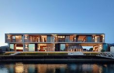 Shaun Lockyer Architects (SLa) have completed a modern waterfront house on the Sunshine Coast in Queensland, Australia, that makes the most of indoor/outdoor living. Australian Architecture, Australian Homes, Residential Architecture, Modern Architecture, Architecture Portfolio, Commercial Interior Design, Commercial Interiors, Contemporary Interior Design, Modern House Design
