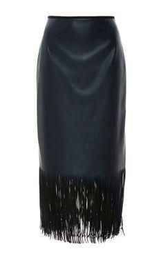 Fringe Skirt by Cédric Charlier for Preorder on Moda Operandi