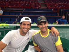 Rafa Nadal - October 28, 2013  Buen entrenamiento esta tarde con Fernando! Great practice with Fernando this afternoon!