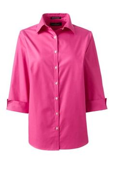 Women's+3/4+Sleeve+Broadcloth+Shirt+from+Lands'+End
