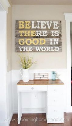 Important to remember: be here now. This is so cute I think I could make this for my house.