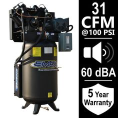 EMAX Industrial Series 80 Gal. 7.5 HP 1-Phase Silent Air Electric Air Compressor-HS07V080V1 - The Home Depot