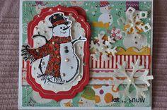 Christmas card - Ornate Christmas Inkadinkado stamps