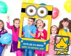 Minion Party Photo Booth Prop (Digital File Only) Minion Printable, Minion Gifts, Minion Party Favors, Minion Costume, Despicable Me