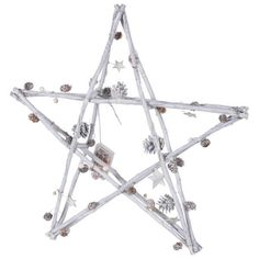 Bark & Blossom Twig Star (1.435 RUB) ❤ liked on Polyvore featuring home, home decor, holiday decorations, christmas home decor, flower home decor, pine cone home decor, star home decor and flower stem
