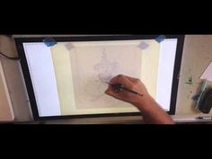 "Dragon sketch on a HUION 23"" LED light pad Animation Tools, Dragon Sketch, Simple Pictures, Drawing Drawing, Working Area, Learn To Draw, Light Table, Tatoos, Jay"