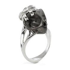 Tarsier Ring With Black Skull by Violet Darkling