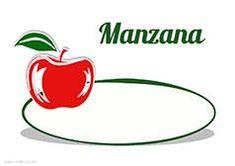Cartel de precios para las manzanas. Frutería. Verdulería. Garlic, Pumpkins, Fruits And Vegetables, Deserts, Recipes, Minimal Poster