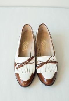 Vintage Ferragamo Loafers / Size 65 / Penny by inheritsupply, $69.00