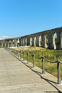 Cyprus Larnaka. Kamares-the Old Aqueduct of Larnaka