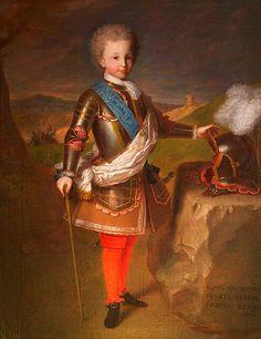 Luis, Príncipe de Asturias (luego Luis I de España). Retrato de Michel-Ange Houasse.1715.