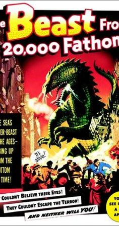 Directed by Eugène Lourié.  With Paul Hubschmid, Paula Raymond, Cecil Kellaway, Kenneth Tobey. A ferocious dinosaur awakened by an Arctic atomic test terrorizes the North Atlantic and, ultimately, New York City.