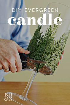 This DIY Evergreen Candle Will Make Your Holidays Even Brighter