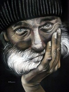 Expression d'un regard. - Painting,  50x65 cm ©2012 by Brigitte Bouron -  Painting, Oil