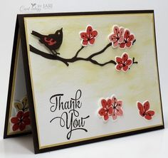 Stampin' Up! Colorful Season Thank-Cardiology by Jari s