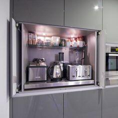 Мелкая кухонная техника: рациональные идеи хранения