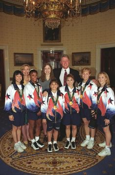 And here's a bonus shot with Bill Clinton: | Where Are They Now: The 1996 US Gymnastics Team