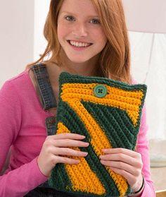 Spirited iPad Crochet Cozy -- great gift