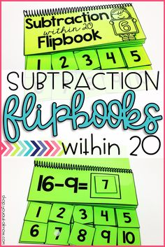 These subtraction flipbooks are a hit in my Autism classroom. They make a great independent work task during station time.