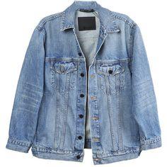 Alexander Wang Daze Indigo Denim Jacket (780 BAM) ❤ liked on Polyvore featuring outerwear, jackets, denim jackets, coats & jackets, denim jacket, blue jackets, jean jacket, blue jean jacket and indigo denim jacket