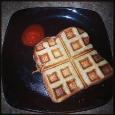 Waffles grilled cheese