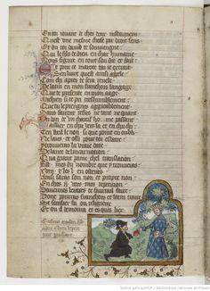 Titre : Psautier latin-français Date d'édition : 1301-1400 Type : manuscrit NAF 4600 17v
