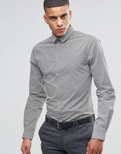 Noak – Elegantes, schmales Hemd mit Blümchenmuster