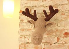 DIY PDF Pattern moose head crochet pattern by Anitareus on Etsy